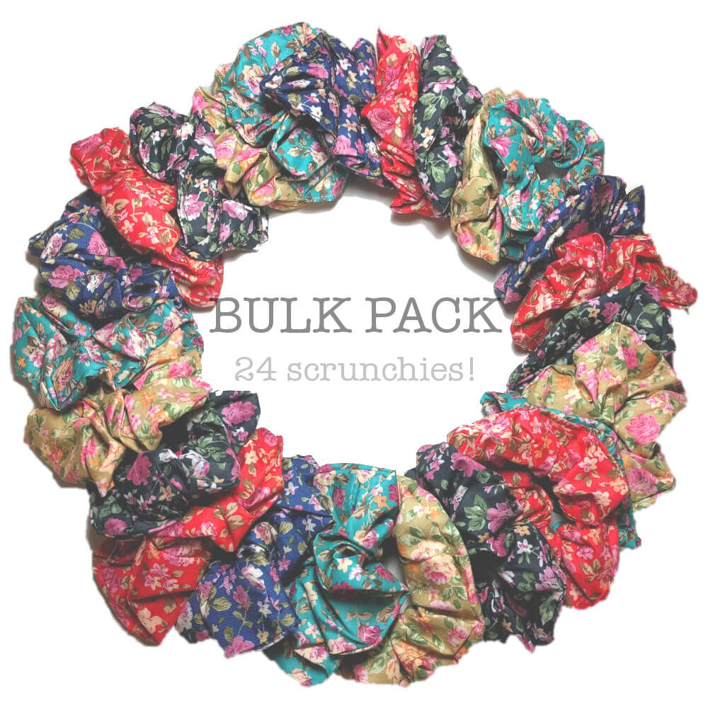 NEW Ditsy Print floral scrunchie bulk pack!