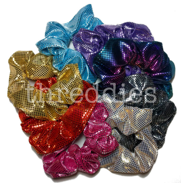 Threddies Shiny Foil Scrunchies