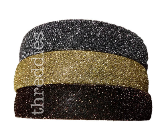 1 inch wide glittery headbands