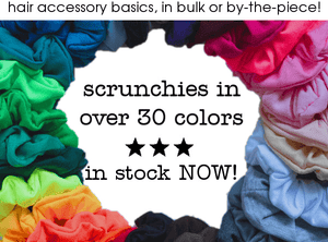 scrunchies in over 30 colors