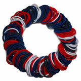 wholesale hair elastic set black white red navy