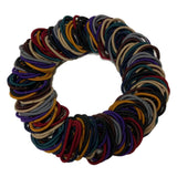 4mm ponytail elastics, dark assortment
