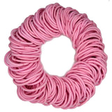 4mm ponytail elastics, light pink hair elastics