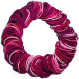 wholesale hair elastics in various pinks