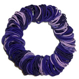 4mm ponytail elastics, purple assortment