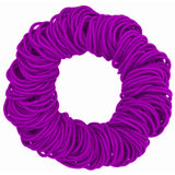 4mm hair elastics ties, purple
