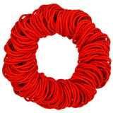 4mm hair elastics ties, red