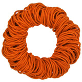 4mm hair elastics ties, orange
