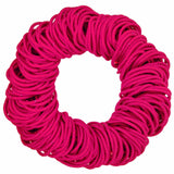 4mm hair elastics ties, shocking pink