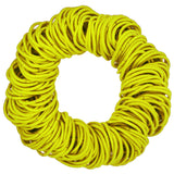 4mm hair elastics ties, yellow