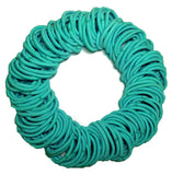 5mm ponytail elastics aqua