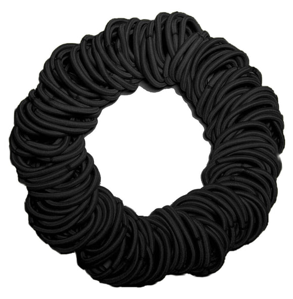 5mm ponytail elastics black
