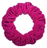 5mm ponytail elastics hot pink