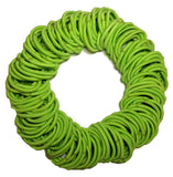 5mm ponytail elastics lime green