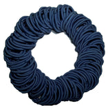 5mm ponytail hair elastics navy blue