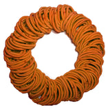5mm ponytail elastics orange