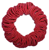 5mm ponytail elastics red