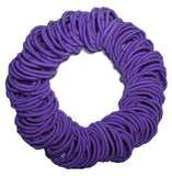 5mm ponytail elastics violet
