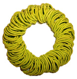 5mm ponytail elastics yellow