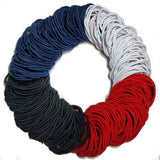 standard 2mm ponytail elastics, classic assortment hair elastics
