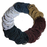 standard 2mm ponytail elastics, neutral assortment
