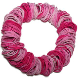 standard 2mm ponytail elastics, pink assortment