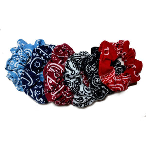 bandana scrunchies pack, black and white