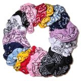 bandana scrunchies pack, bright colors