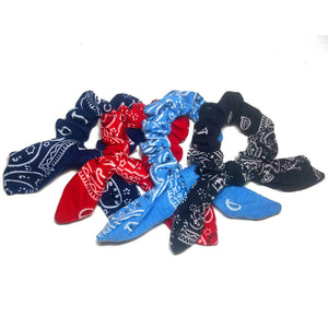 bandana scrunchies with tails
