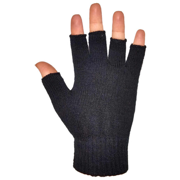 black fingerless gloves