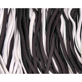 skinny elastic headbands, black and white