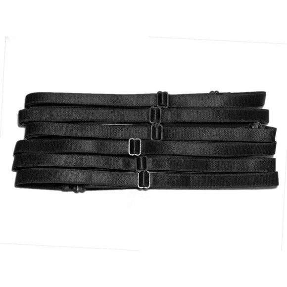 adjustable elastic bra strap headbands black wholesale