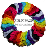 thermal scrunchies, rainbow assortment, 36 scrunchie pack