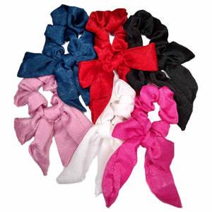 satin bow scrunchies