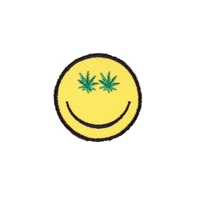 cannabis smiley face patch