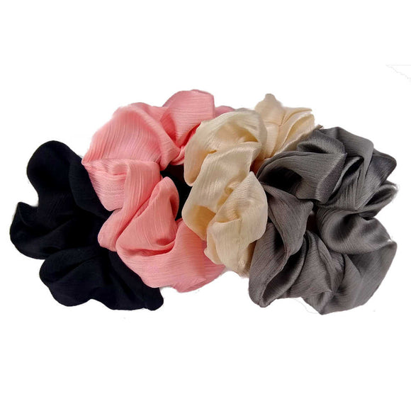 charmeuse satin scrunchies