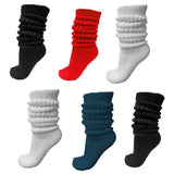 heavyweight slouch socks, classic colors assortment