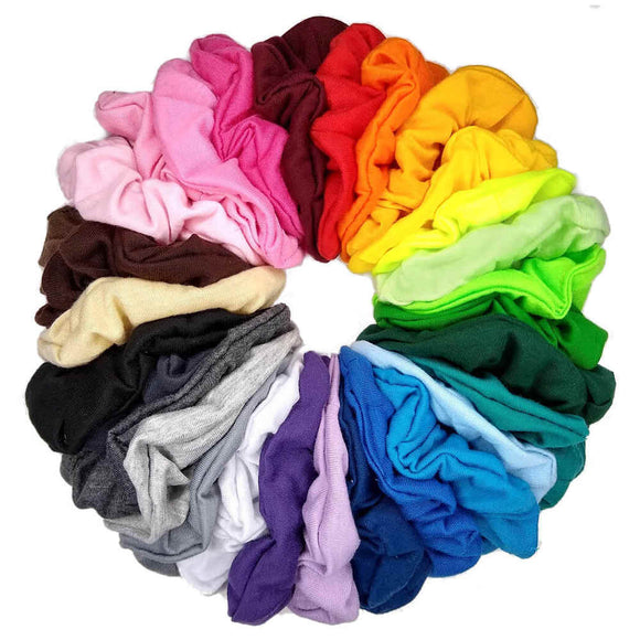 cotton scrunchies by threddies