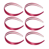 One inch wide, cranberry, satin headband