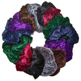 dark assorted velvet scrunchies