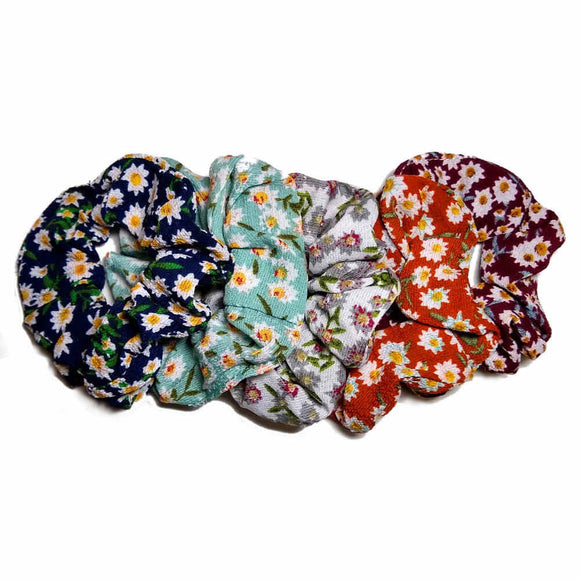 Ditsy Floral Scrunchies, wholesale scrunchie pack