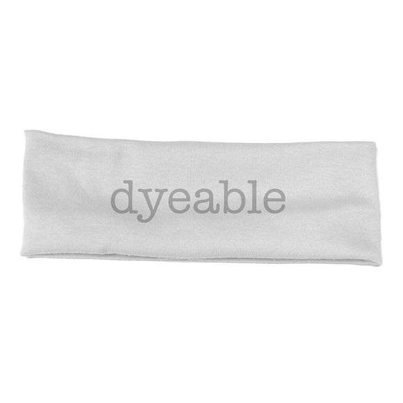 dyeable cotton headbands, white