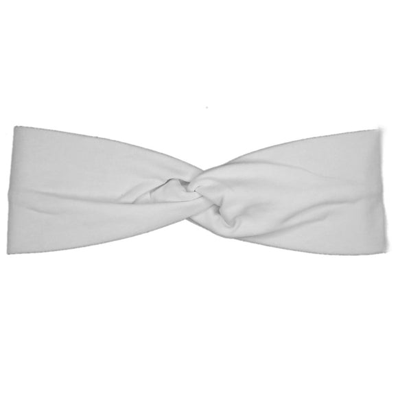 dyeable white cotton turban headbands