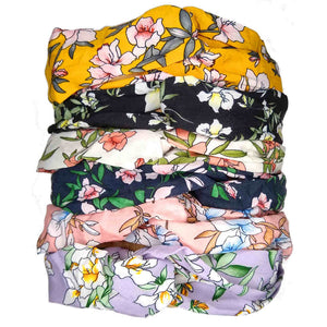 cottage floral turban twist headbands