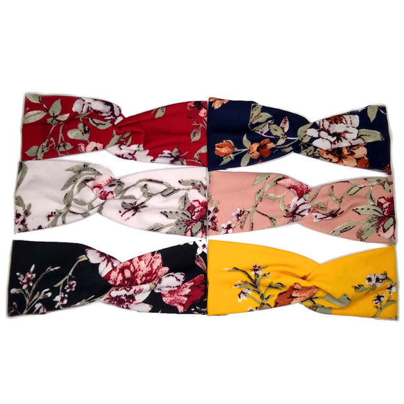 floral turban twist headbands