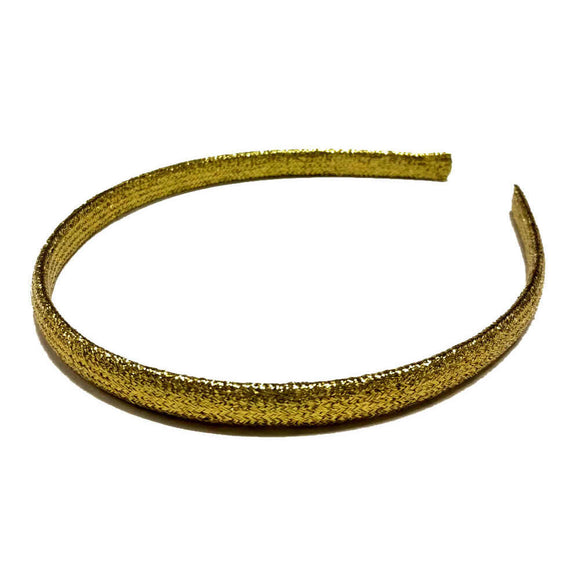 gold skinny shiny headbands