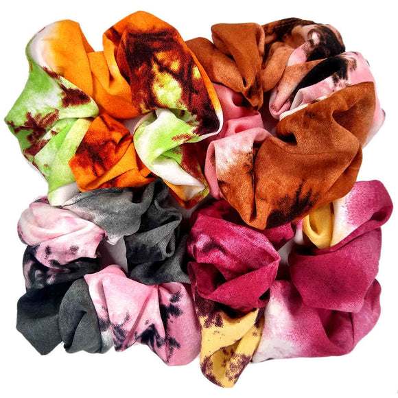 Soft Focus Large Floral Scrunchies