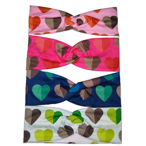 heart print turban twist headbands