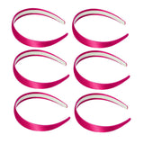 One inch wide, shocking pink, satin headband