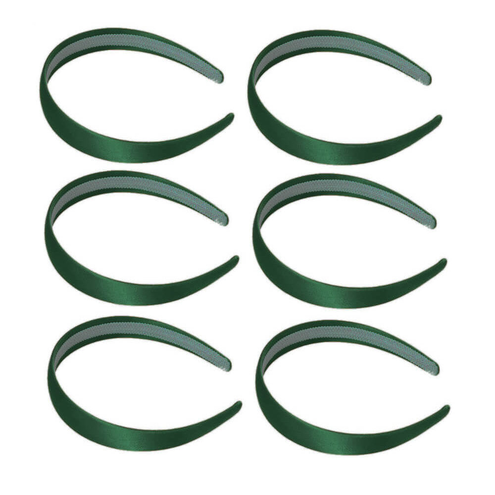 1 Inch Wide Satin Headbands Piece Pack Or Case Wholesale